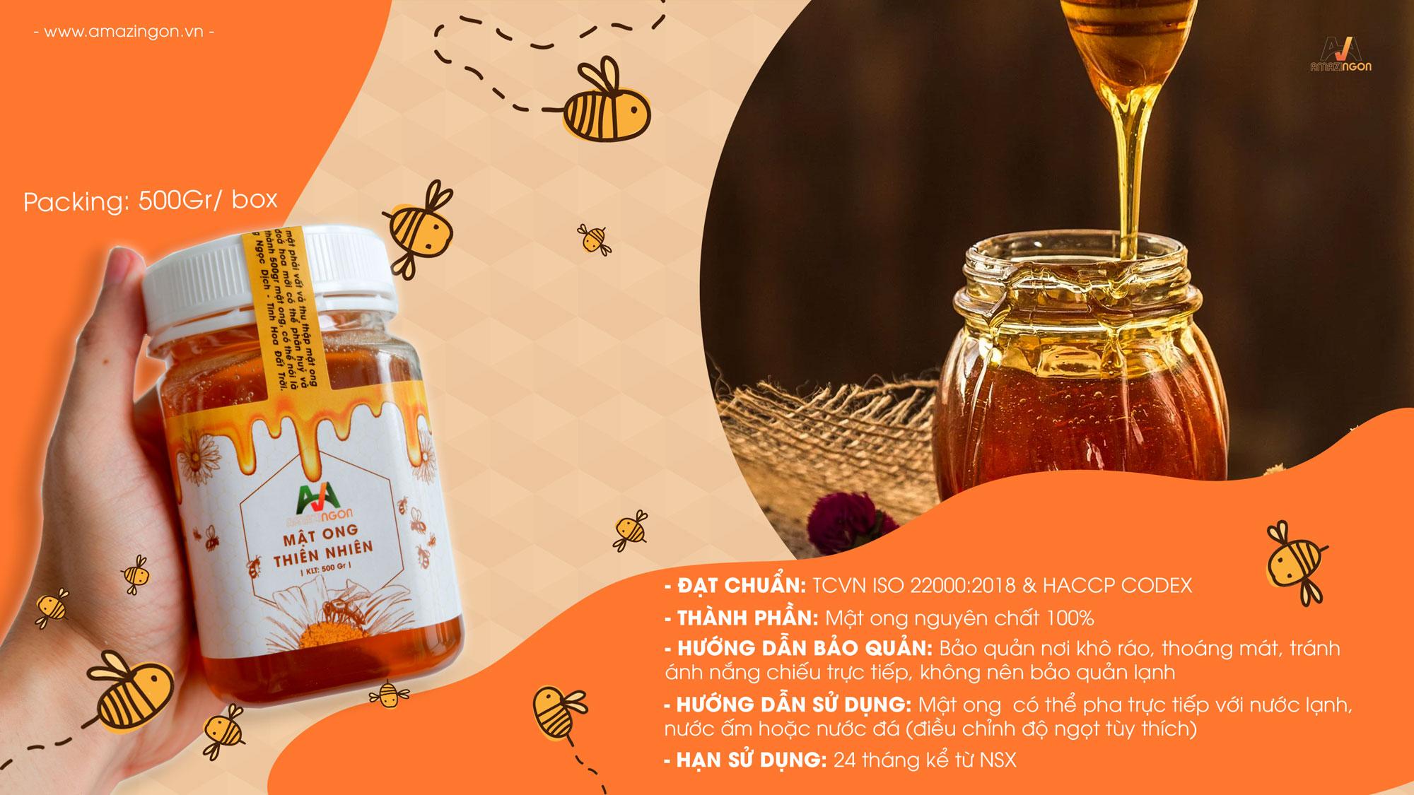 mật ong thiên nhiên nguyên chất Amazingon